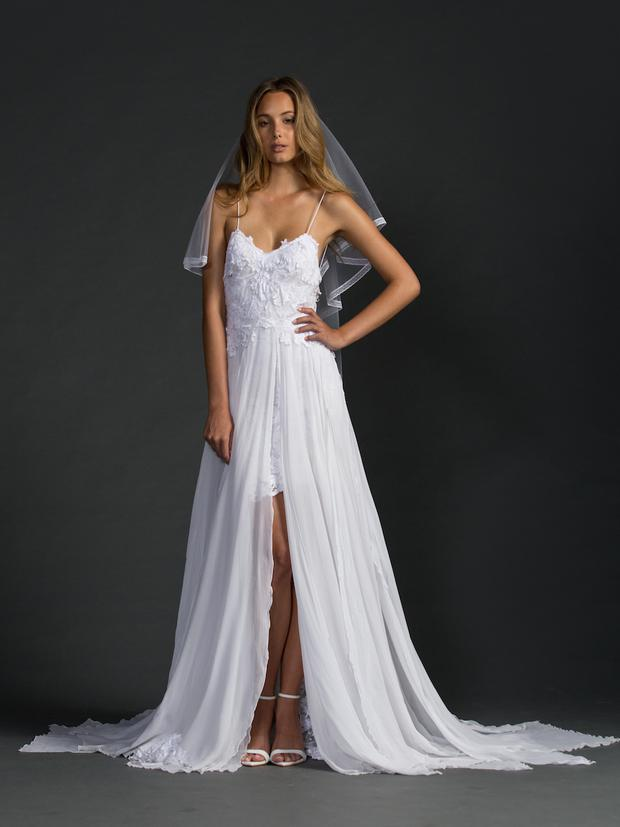 the popular hollie dress and veil by grace loves lace