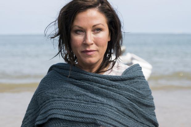 Kat and Alfie: Redwater. Pictured: Kat (JESSIE WALLACE). See PA Feature TV Redwater. PA Photo/BBC/Patrick Redmond.