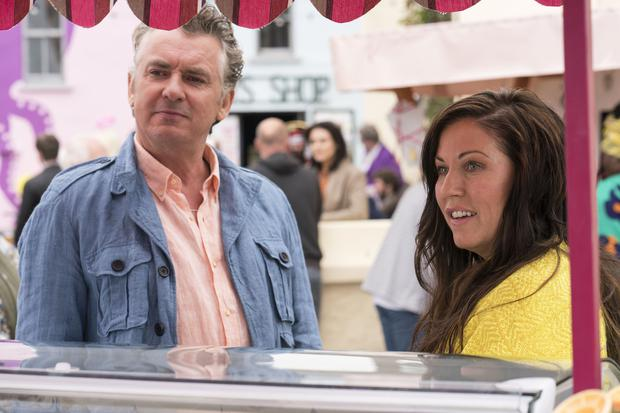 Kat and Alfie: Redwater. Pictured: Kathleen (JESSIE WALLACE) and Alfie (SHANE RICHIE) . PA Photo/BBC/Patrick Redmond.