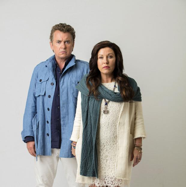 Kat and Alfie: Redwater. Pictured: Kathleen Moon (JESSIE WALLACE)and Alfie Moon (SHANE RICHIE). Picture Credit should read: PA Photo/BBC/Jonathan Hession.