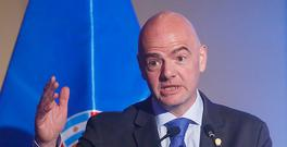 SANTIAGO, CHILE - APRIL 26: FIFA President Gianni Infantino speaks during the 67th CONMEBOL Congress at Sheraton Hotel on April 26, 2017 in Santiago, Chile. (Photo by Esteban Garay/LatinContent/Getty Images)