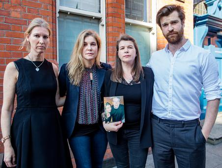 Aishling, Caroline, Catherine and Jeremiah, children of Tim Fleming, London, who died while visiting Ireland on a short trip, pictured at the Coroners Court. Picture: Arthur Carron