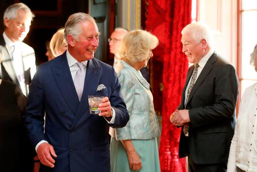 The Prince of Wales and Duchess of Cornwall attend a Music & Words for a Spring Evening at Hillsborough Castle during their visit to Northern Ireland (PA)