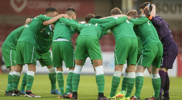 Failure to beat Germany in their concluding U-17 European finals group game today in Rijeka will leave Ireland relying on Balkan rivalry to snaffle a place in the quarter-finals. Photo: Eóin Noonan/Sportsfile