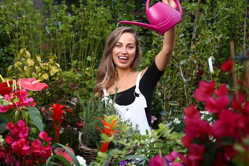 Daniella Moyles promoting the #LoveYourGarden initiative from Bord na Móna Growise