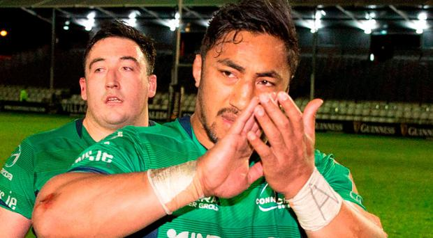 Bundee Aki: Facing three-match ban. Photo: Kenny Smith/Sportsfile