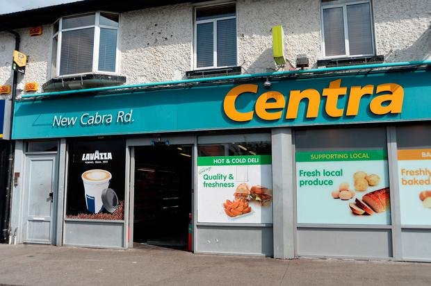 The Centra shop in Cabra that was targeted in the raid. Photo: Caroline Quinn