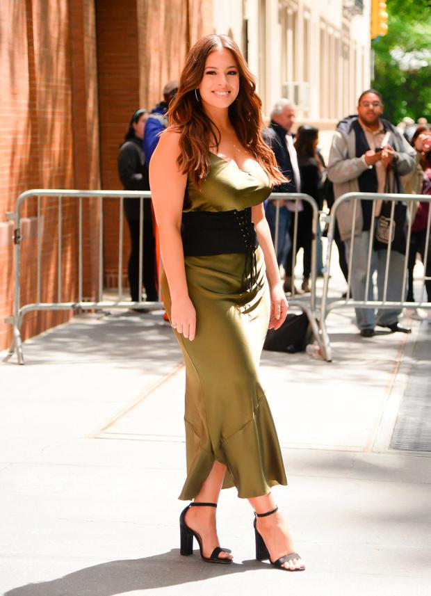 Model Ashley Graham is seen coming out of the 'View on May 9, 2017 in New York City. (Photo by Raymond Hall/GC Images)