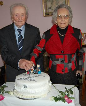 John and Bridget Hegarty from Glenties, Co Donegal Photo: North West Newspix