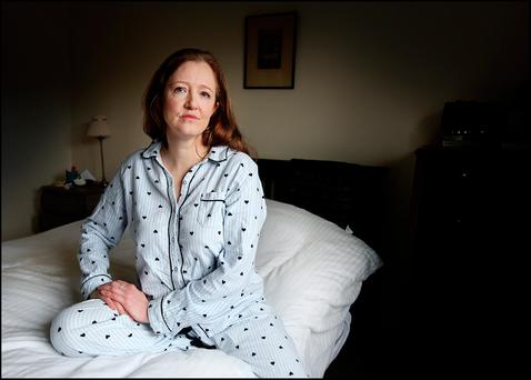 Anne Brennan who lives with ME/CFS at home in Ballinroe Co Tipperary