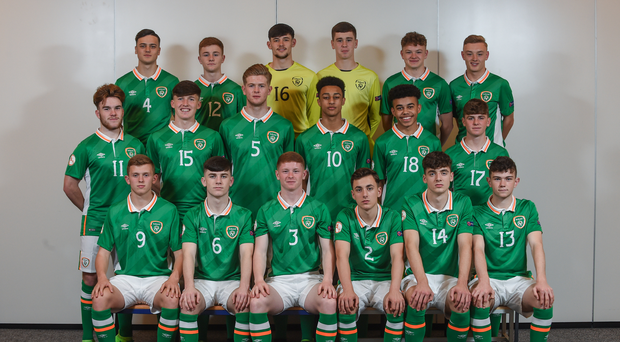 The Ireland U17 pictured ahead of the European Championship.