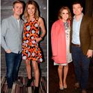 (L to R) Rosanna Davison and Wesley Quirke, Pippa O'Connor and Brian Ormond and Amy Huberman and Brian O'Driscoll