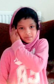 Evha Jannath (11) who fell out of a boat on the Splash Canyon ride during a school trip to the Tamworth-based theme park on Tuesday
