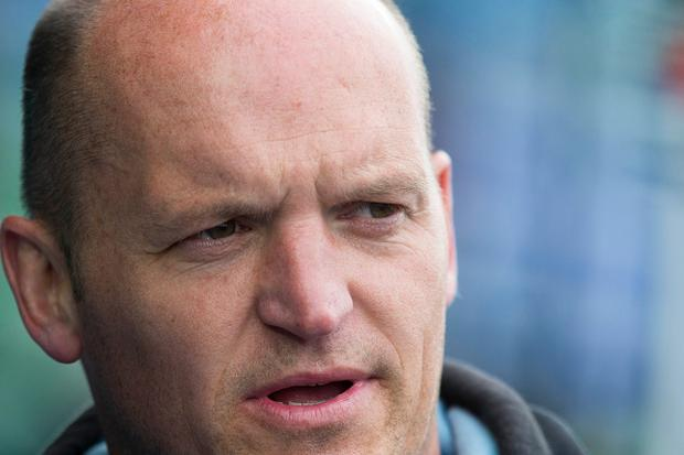 Coach Gregor Townsend of Glasgow Warriors speaks ahead of the Pro12 Semi Final between Glasgow and Ulster at Scotstoun Stadium on May 22, 2015 in Glasgow, Scotland. (Photo by Jeff Holmes/Getty Images)