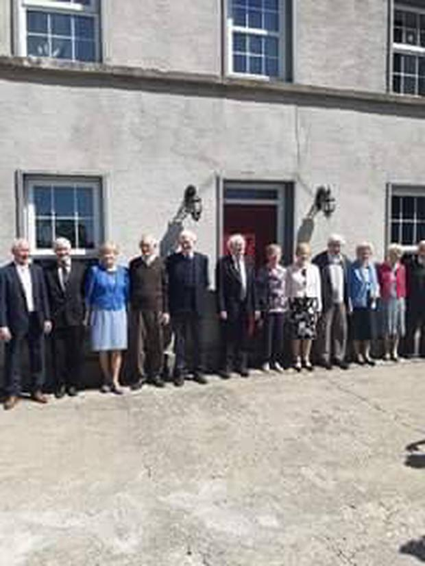 Sean (93), Maureen (92), Eileen (90), Peter (87), Mairead (86), Rose (85), Tony (83), Terry (81), Seamus (80), Brian (76), Kathleen (75), Colm (73) and Leo (72) pictured at their Guinness World record celebration.