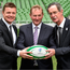 Brian O'Driscoll, left, Irish Rugby legend and IRFU Bid Ambassador, with An Taoiseach Enda Kenny TD, and Dick Spring, left, Chairman of the Rugby World Cup 2023 Oversight Board.