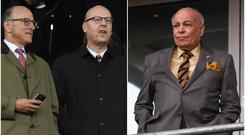 The Glazer family (left) own Man United while Assem Allam owns Hull City.