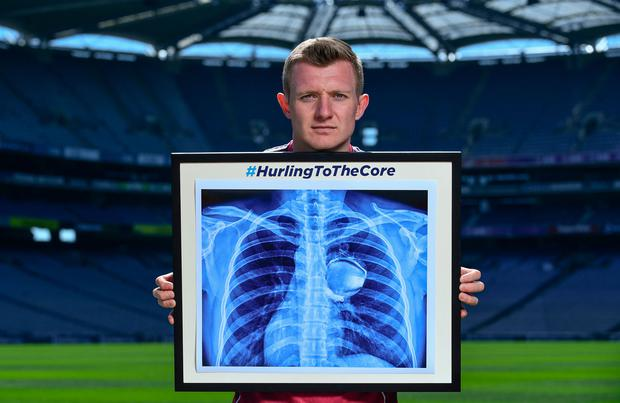 Joe Canning at the launch of the Bord Gáis Energy #HurlingToTheCore campaign at Croke Park. Photo: Sam Barnes/Sportsfile