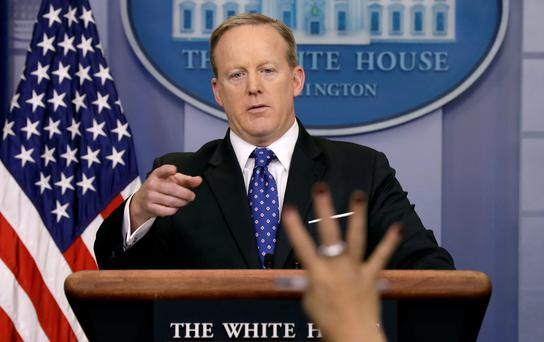 White House spokesman Sean Spicer REUTERS/Kevin Lamarque