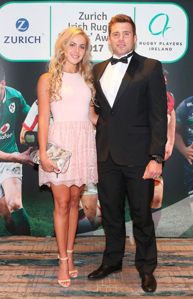 Jean Marie Stander and CJ Stander at the 2017 Zurich Irish Rugby Players' Awards. Picture: Leon Farrell/Photocall Ireland