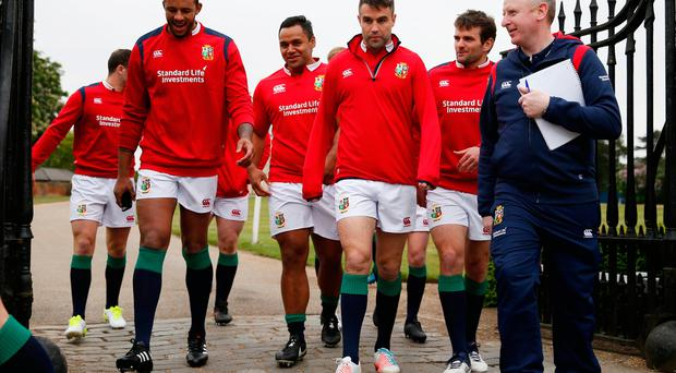 Courtney Lawes, Billy Vunipola, Conor Murray and Jared Payne Action