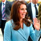 The Duchess of Cambridge arriving at MUDAM (Musze d'Art Moderne) during a day of visits in Luxembourg where she is attending commemorations marking the 150th anniversary 1867 Treaty of London, that confirmed the country's independence and neutrality