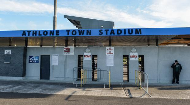 5 May 2017; A general view before the SSE Airtricity League First Division game between Athlone Town and Cobh Ramblers at Athlone Town Stadium in Westmeath. Photo by Oliver McVeigh/Sportsfile