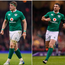 Jared Payne (left), Jamie Heaslip (centre) and Rob Kearney (right).