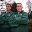 15 February 2000; Peter Stringer, right, pictured with Ronan O'Gara who both win their first caps for Ireland at half back for the game against Scotland, pictured during Irish rugby training. Picture credit; Matt Browne/SPORTSFILE