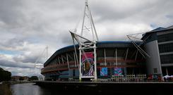 CARDIFF, WALES - SEPTEMBER 20: A general view outside the ground prior to the 2015 Rugby World Cup Pool A match between Wales and Uruguay at the Millennium Stadium on September 20, 2015 in Cardiff, United Kingdom. (Photo by Laurence Griffiths/Getty Images)