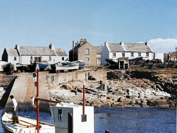 The former Tory Island home of Neville Presho before it was gradually destroyed while he was living abroad