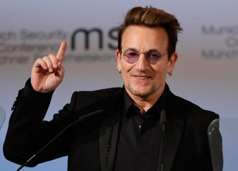 Celebrity influence: U2 singer Bono has glaucoma