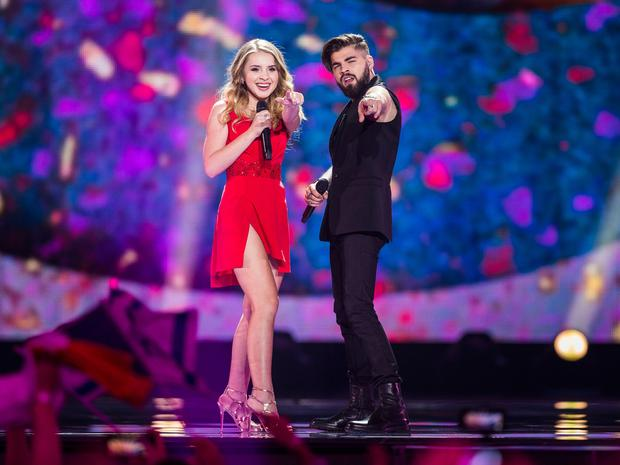 Ilinca and Alex Florea representing Romania perform the song 'Yodel It!'.Photo: Getty Images