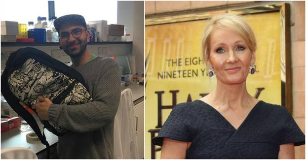 A Dublin student had been reunited with his missing laptop after a viral search campaign led by JK Rowling.