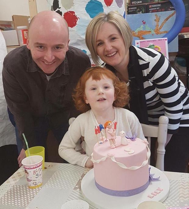 Emma Keogh pictured with her family