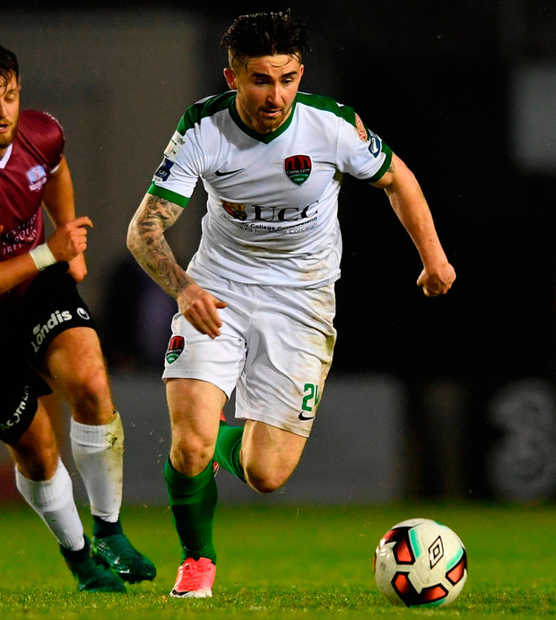 Cork City's Sean Maguire in action during the SSE Airtricity League Premier Division game against Galway United. Photo: Sam Barnes/Sportsfile