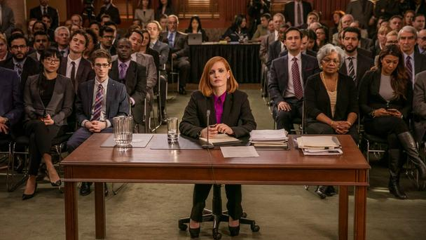 Jessica Chastain plays Elizabeth Sloane in Miss Sloane