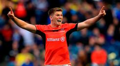 Saracen's Owen Farrell celebrates during the European Champions Cup Final at BT Murrayfield