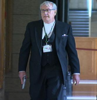 Sergeant at Arms for the House of Commons Kevin Vickers Photo: Grab from Canadian Broadcaster Corp. video.
