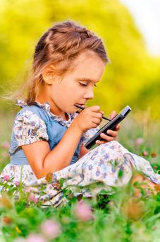 Safety: Giving smartphones to children is storing up problems (stock photo)