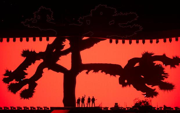 U2 kick off their world tour of the Joshua Tree in Vancouver, Canada Photo: Jonathan Hayward/The Canadian Press via AP