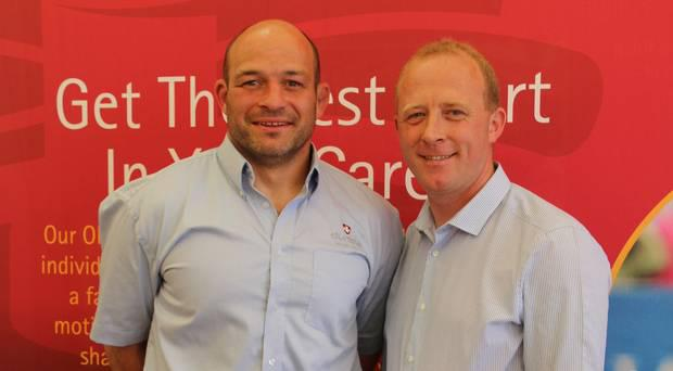 Ireland rugby captain Rory Best with William Sayers at Balmoral