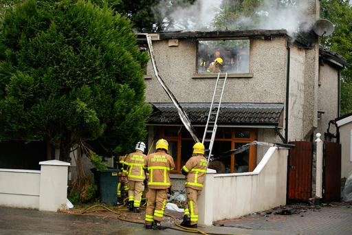 Scene of fire in Firhouse (Photo: Gerry Mooney)