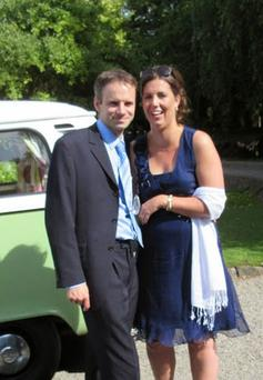 Conor pictured with his late wife Lisa, who sadly lost a battle with breast cancer