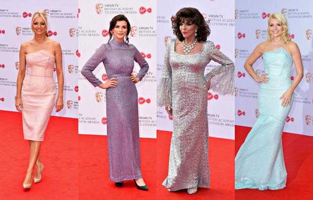 Tess Daly, Aisling Bea, Joan Collins, Holly Willoughby. Images: Getty