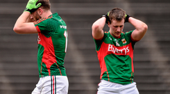 Aidan O'Shea, left, with his team-mate Cillian O'Connor
