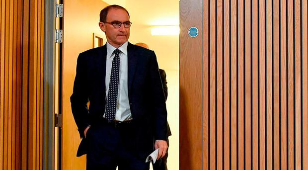 Martin O'Neill arrives for yesterday's squad announcement at the Aviva Stadium. Photo: SPORTSFILE