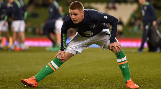 James McCarthy came in for criticism from his club manager Ronald Koeman after he made himself available for Ireland's qualifier against Wales in March despite missing games for Everton. Photo: Ramsey Cardy/Sportsfile
