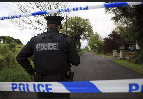 The scene where the bodies of a man and woman were found Photo: Belfast Telegraph