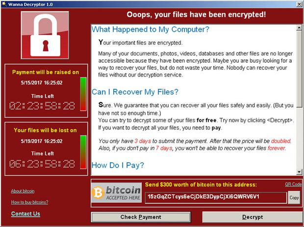 Victims have been greeted by this ransomware screen